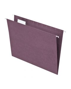 Hanging File - 100% Recycled, 1/5 Tab, Violet, Letter, 25/Bx