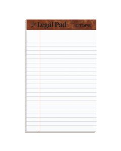 "TOPS™ The Legal Pad Writing Pads, 5"" x 8"", Jr. Legal Rule, 50 Sheets, 12 Pack"
