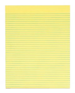 "The Legal Pad™ Legal Pad, 8-1/2"" x 11"", Gum-Top, Canary, Narrow Rule, 50 SH/PD, 12 PD/PK"