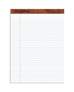 """TOPS™ The Legal Pad Writing Pad, 8-1/2"""" x 11-3/4"""", Legal Rule, 50 Sheets"""