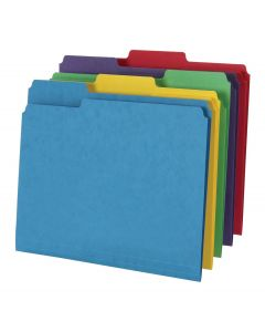Pendaflex® 14 pt. File Folder, Single Top, Letter Size, Assorted, 50/BX