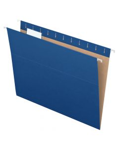 Pendaflex® Recycled Hanging Folders, Letter Size, Navy, 1/5 Cut, 25/BX