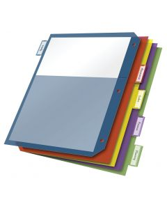 Double Pocket Poly Dividers, 5 Tab, Multicolor
