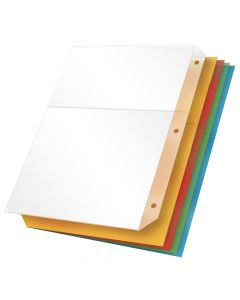Poly Ring Binder Pockets without Tabs, Multicolor