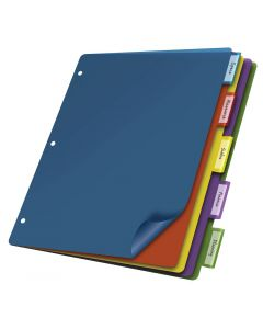 Poly Divider (w/o Pockets), 5 Tab, Multicolor