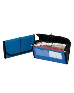 13 Pocket Check File, Blue