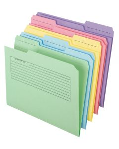 Printed Notes File Folders, Assorted