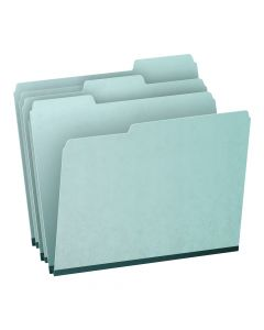 Pendaflex® Pressboard Expansion File Folders, Letter Size, Blue, 1/3 Cut, 25/BX