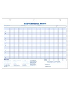 "Adams® Daily Attendance Record, 11"" x 8-1/2"", 50 Records"