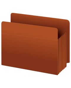 "Pendaflex® Heavy Duty End Tab File Pockets, Legal Size, Redrope, 5.25"" Expansion, 10/BX"