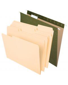 Hanging File - Filing Combo Kit, 25 Hanging File Folders, 50 File Folders, Letter, 75Bx