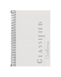 "TOPS™ Poly Notebook, 5-1/2"" x 8-1/2"", Narrow Rule, Clear Poly Cover, 100 Sheets"