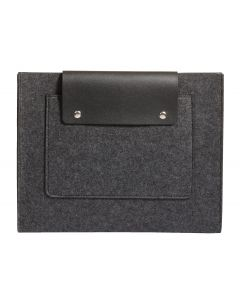 "Pendaflex® Felt Snap Pocket, Charcoal Gray and Black, 11-1/8"" x 14"" x 1"""