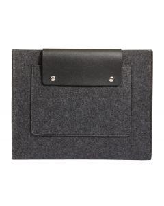 """Pendaflex® Felt Snap Pocket, Charcoal Gray and Black, 11-1/8"""" x 14"""" x 1"""""""