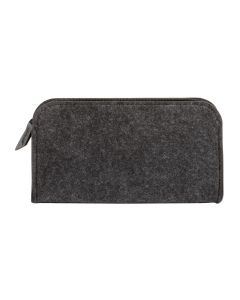 "Pendaflex® Felt Zip Pocket, Charcoal Gray and Black, Small (4-5/8"" x 8-3/8"" x 1"")"