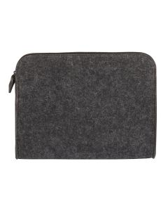 "Pendaflex® Felt Zip Pocket, Charcoal Gray and Black, Medium (8"" x 9-1/8"" x 1"")"