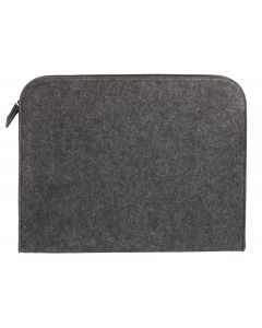 "Pendaflex® Felt Zip Pocket, Charcoal Gray and Black, Large (11"" x 14"" x 1-1/8"")"
