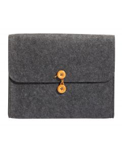"Pendaflex® Felt String-and-Button Pocket, Charcoal Gray (10-1/4"" x 11-1/2"" x 1-1/2"")"