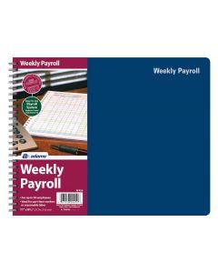 "Adams® Weekly Payroll Record, 20 Employee Capacity, Spiral, 8-1/2"" x 11"""