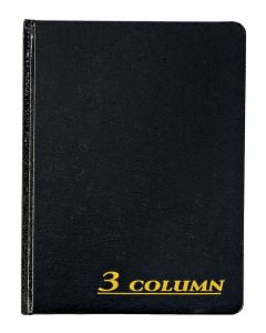 "Adams® Account Book, 3 Column, 7"" x 9-1/4"", 80 Pages"