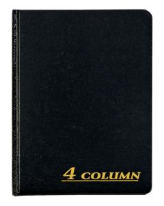 "Adams® Account Book, 4 Column, 7"" x 9-1/4"", 80 Pages"