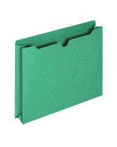"Jackets, Reinforced, 2"" Exp., Green, Letter, 50/BX"