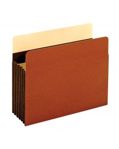 "Heavy Duty Extra Wide File Pockets, Letter Size, 5.25"" Expansion"