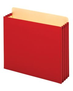 "Pendaflex® Pockets, File Cabinet, 3.5"" Exp., Red, Letter, 10/BX, 5 BX/CT"