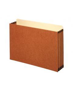 "Pendaflex® Pockets, File Cabinet, 3.5"" Exp., Brown, Legal, 10/BX, 5 BX/CT"