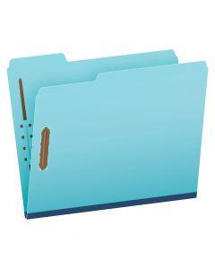 "Pendaflex® Recycled Pressboard Fastener Folders, Letter Size, Light Blue, 1"" Expansion, 1/3 Cut, 25/BX"