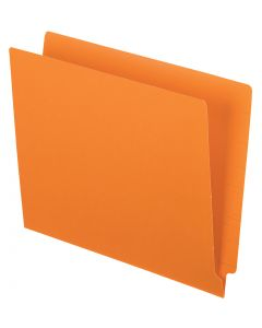 Color End Tab Folders, Orange