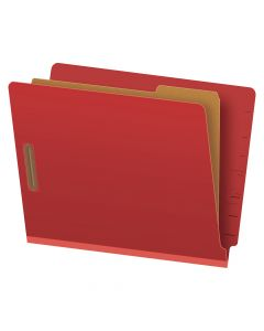 "Pendaflex® Pressboard End-Tab Classification Folders, Letter Size, 4 Section, 1.75"" Expansion, Red, Straight Cut, 10/BX"