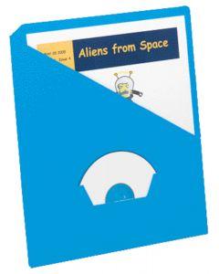Slash Pocket Project Folders, Blue