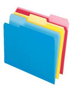 Write and Erase® File Folders, Assorted, 12/PK