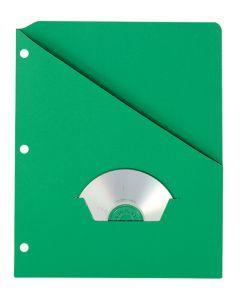Slash Pocket Project Folders, Green
