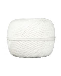 10-Ply 475' Ball of Twine, White Cotton, 6 Rolls per Pack