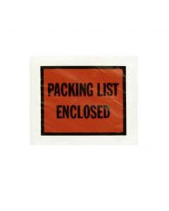4-1/2 x 5-1/2 Clear Packing List Full Print Envelopes with Self Adhesive for Secure Shipping Documents, Orange, 1000 per Carton
