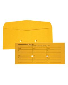 10-3/8 x 4-1/2  Inter-Departmental Envelopes with Ungummed Flap for Interoffice Routing, 28 lb Brown Kraft, 500 per Box
