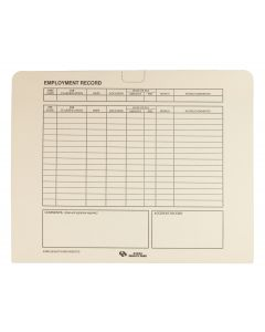 9-1/2 x 11-3/4 Personnel Folder with ADA for Storing and Filing HR Records, 11 pt. Manila Tag, 20 per Pack