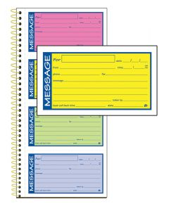 "Adams® High Impact Phone Message Book, 2-Part Carbonless, 5-1/4"" x 11"", 200 Sets per Book"