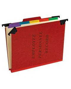 Pendaflex® Hanging Employee/Personnel Folders, Letter Size, Red, Each