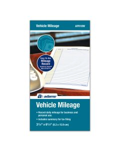 "Adams® Vehicle Mileage Journal, Daily Driving Log and Expense Summary, 3-1/4"" x 6-1/4"""