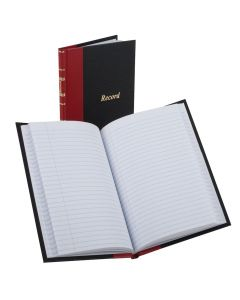 "Boorum & Pease® Account Book, Gold Line Series Record- Ruled, 5"" x 7-1/2"", 144 Pages"