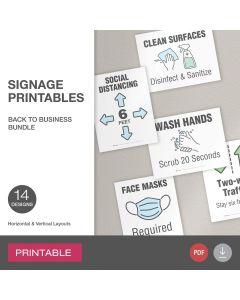 Adams® Back-to-Business Signage Bundle
