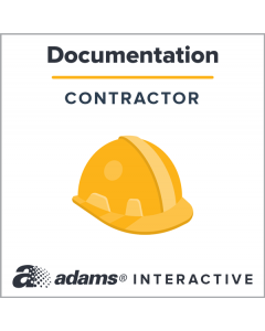 Adams® Subcontractor Agreement, 1-Use Interactive Digital Legal Form