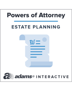 Adams® Pour-Over Will For Married Person, 1-Use Interactive Digital Legal Form