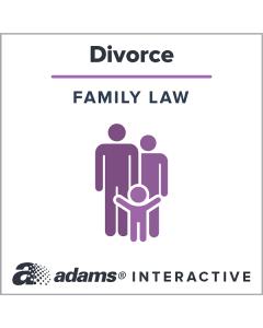 Adams® [California] Divorce Forms, 1-Use Interactive Digital Legal Form