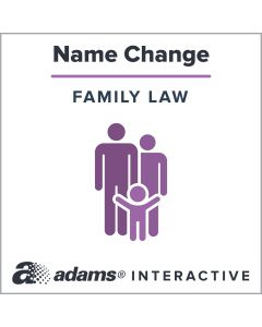 Adams® [California] Adult Name Change, 1-Use Interactive Digital Legal Form
