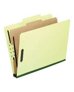 Pressboard Classification Folders, Legal size, Apple Green