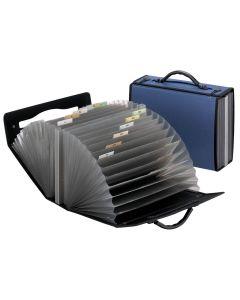 Pendaflex® Portafile™ Expanding Organizer, 26 Pockets, Navy, Letter Size